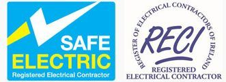 Safe electric and Reci logos